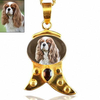 18 Kt Gold Plated Sterling Silver Photo Keepsake Necklace #119