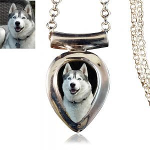 Sterling Silver Photo Keepsake Necklace #167