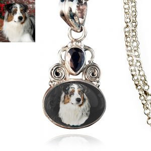 Sterling Silver Photo Keepsake Necklace #187