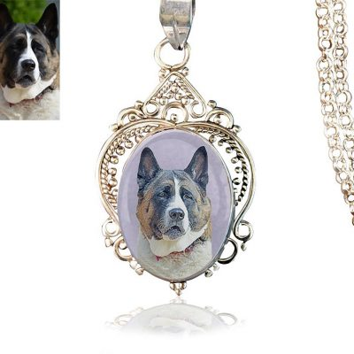 Sterling Silver Photo Keepsake Necklace #21