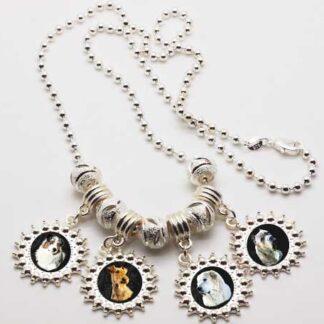 Pandora Style Photo Charm Necklace