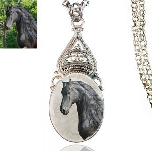 Sterling Silver Photo Keepsake Necklace #501