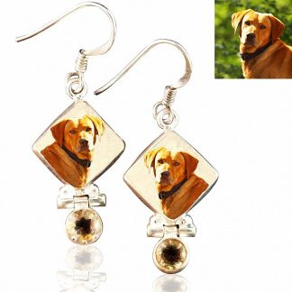 Sterling Silver Memory Earrings with Citrine, #7