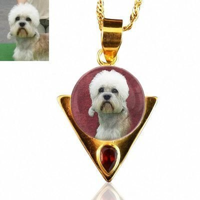 18 Kt Gold Plated Sterling Silver Photo Keepsake Necklace #76