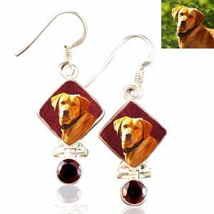 Sterling Silver Memory Earrings with Garnets , #8