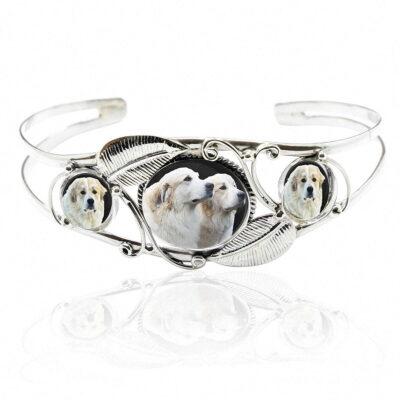 Sterling Silver Photo Bangle Bracelet