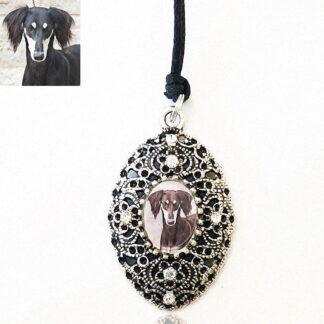 Long Oval Filagree Photo Keepsake Necklace