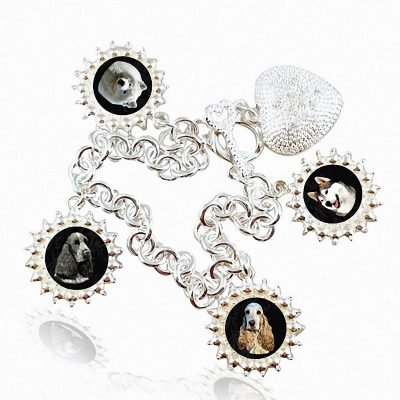 Sterling Silver Photo Charm Bracelet