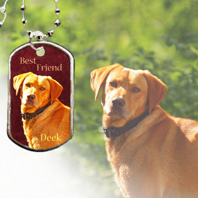 Dog Tag Personalized Photo Keepsake Necklace