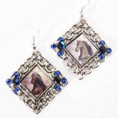 Photo Keepsake Diamond Lace Earrings