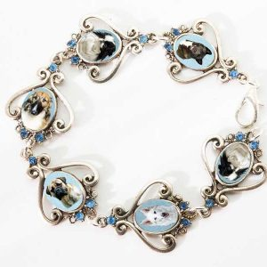 Photo Keepsake Silver Scrollwork Bracelet