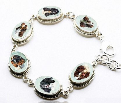 Classic Sterling Silver Photo Bracelet with 6 Settings