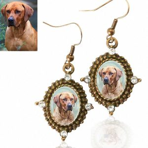 Photo Keepsake Antique Style Bronze Earrings