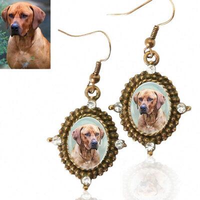 Photo Keepsake Antique Style Bronze Earrings