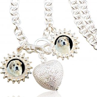 Sterling Silver Photo Charm Necklace