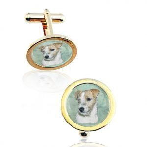 Men's Photo Cuff Links, Gold Plated
