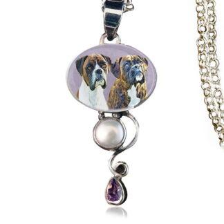 Dewdrop Sterling Silver Memory Necklace, Amethyst