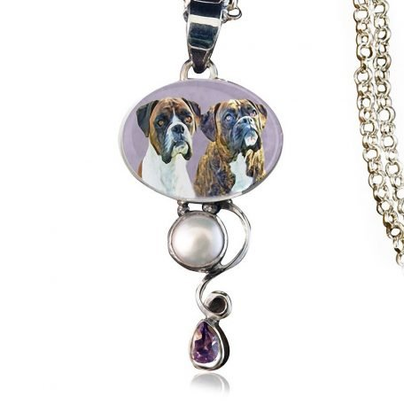 Dewdrop Sterling Silver Memory Necklace, Amethyst