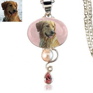 Dewdrop Sterling Silver Memory Necklace, Pink Kunzite
