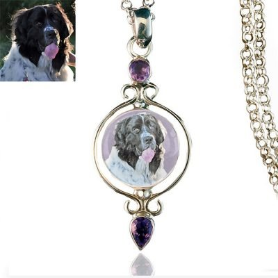 Full Circle Sterling Silver Memory Necklace Amethyst