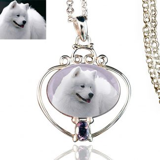 Full Heart Sterling Silver Memory Necklace, Amethyst