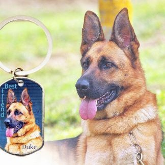 Dog Tag Personalized Key Chain