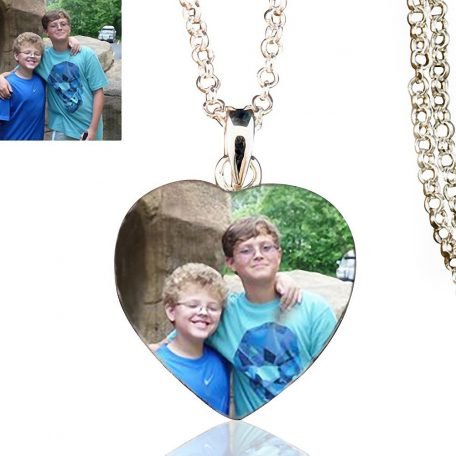 Sterling Silver Heart Photo Keepsake Necklace