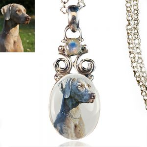 New Bloom Sterling Silver Photo Keepsake Necklace, Moonstone