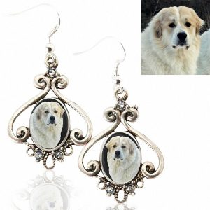 Photo Keepsake Antique Style Earrings