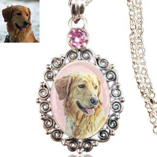 Gemstone Scrollwork Memory Necklace, Pink Kunzite