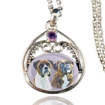 Starlight Sterling Silver Memory Necklace Amethyst