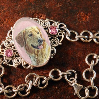 Sterling Silver Memory Bracelet, with Pink Kunzite Gemstones #45