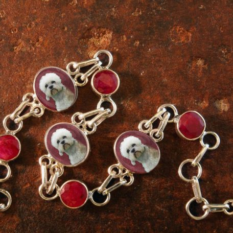 Sterling Silver and Ruby Memory Bracelet #27