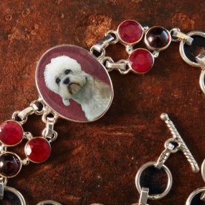 Sterling Silver Memory Bracelet, with Garnets and Rubies #47