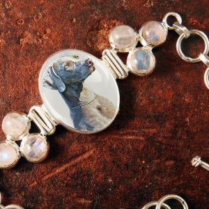 Sterling Silver Memory Bracelet, with Moonstones