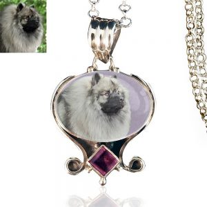 Sunrise Sterling Silver Memory Necklace, Amethyst