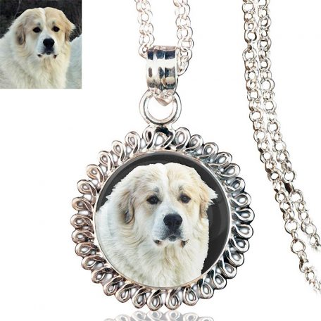 Sunshine Sterling Silver Photo Keepsake Necklace
