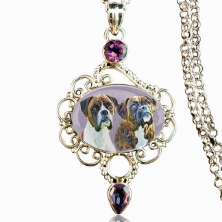 Sterling Silver Tidal Amethyst Memory Necklace
