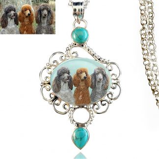 Tidal Sterling Silver Turquoise Memory Necklace