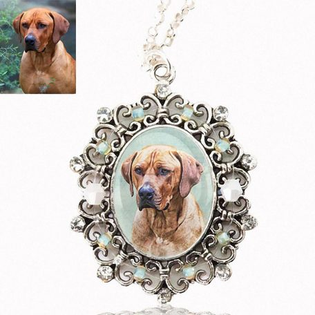 Photo Keepsake Victorian Pendant with Sterling Silver Chain