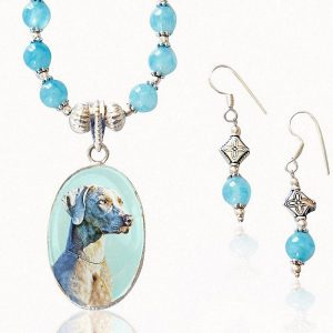 Aquamarine Photo Keepsake Necklace