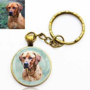 Photo Keepsake Brass Key Chain