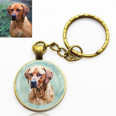 Photo Keepsake Brass Key Chain