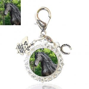 Guardian Angel Horse Shoe Bag Charm