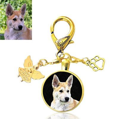 Gold Guardian Angel Bag Charm with Paw