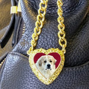 Gold Heart Bag Charm 18K Gold Plated