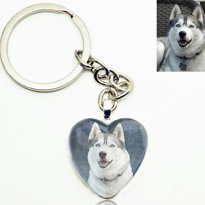Photo Keepsake Heart Key Chain