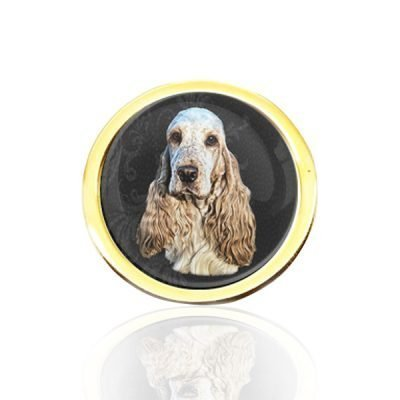 Gold Plated Photo Tie Pin