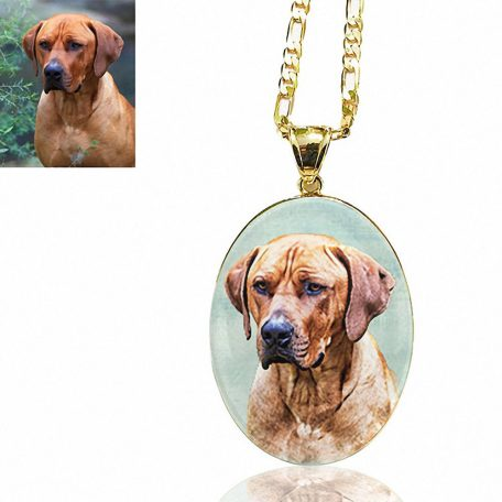 Gold Plated Oval Photo Keepsake Necklace