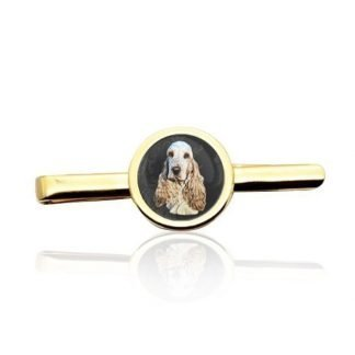 Gold Custom Photo Tie Clip